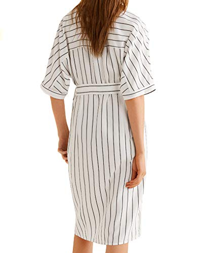 Damen Striped Shirt Mango 31030899 Dress d7vxnnqfw