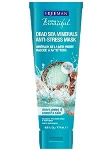 Freeman Dead Sea Minerals Facial Anti-Stress Mask, 6 Ounce