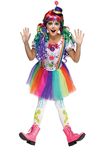 Fun World Kids Crazy Color Clown Costume -
