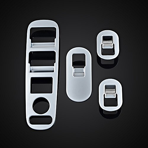 Price comparison product image Chrome Interior Door Window Switch Panel Cover Trim For Honda Vezel HR-V HRV 2014 2015 2016
