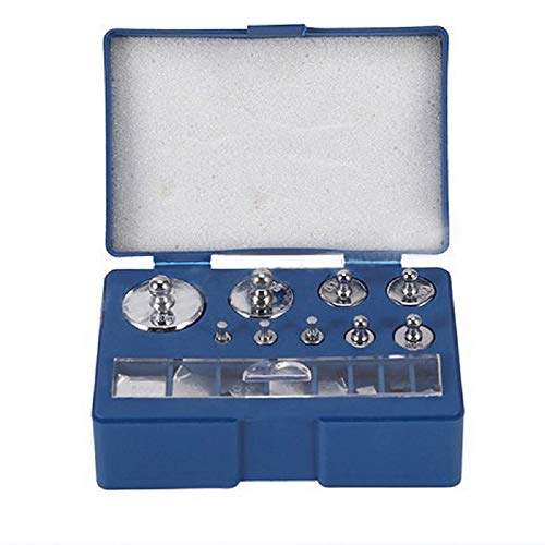 17 Pcs Precision Calibration Weight Set,10mg-100g Stainless Steel Jewelry Scale Calibration Weight,Gram Scale,Weight Scale.for Digital Balances and Precision Balance Testing (Blue) ()