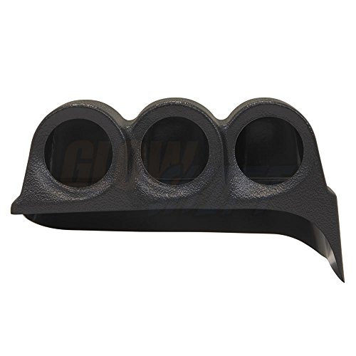 GlowShift 1986-1993 Dodge Ram Cummins Triple Dashboard Gauge Pod