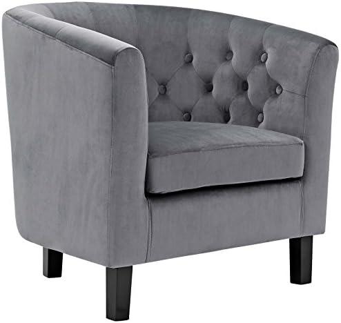 Modway Prospect Upholstered Velvet Contemporary Modern Accent Arm Chair