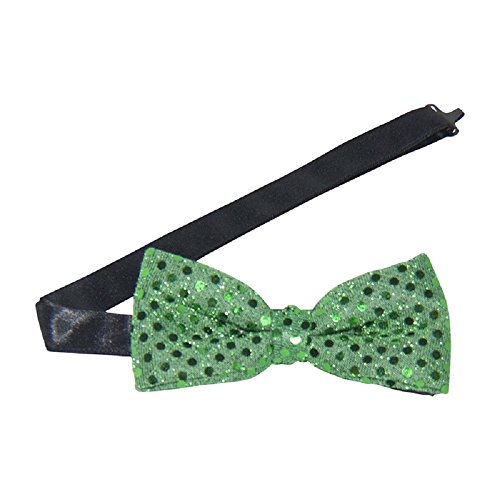 - Emerald Green Sequins Banded Bow Tie