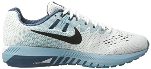 Uomo 20 Structure Da Nike cerulean Running Air space Bianco white Scarpe Blue blustery black Zoom Trail XxqXwFn8B