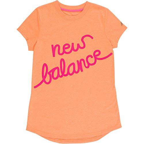 New Balance Little Girls' Short Sleeve Graphic Tee, Tangerin