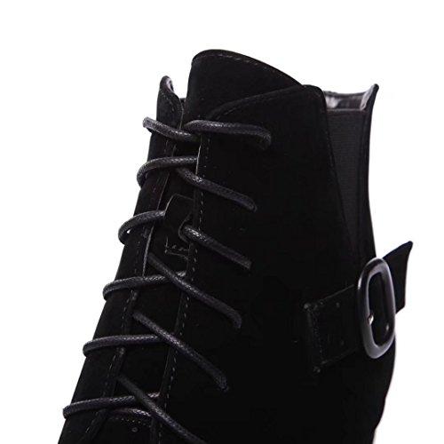 Boot schwarz 6 Women's AIYOUMEI Classic qE8CZxBw