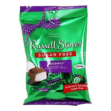 Russell Stover Sugar Free Chocolate Candy Coconut, 3 oz bag (2 Pack)