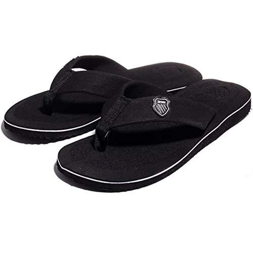 Kikole Men Flip Flops Casual Breathable Comfortable Summer Beach Slipper Footwear Sandals Black