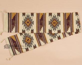 Mission Del Rey Native Southwest Table Runner - 100% Handwoven Wool 10
