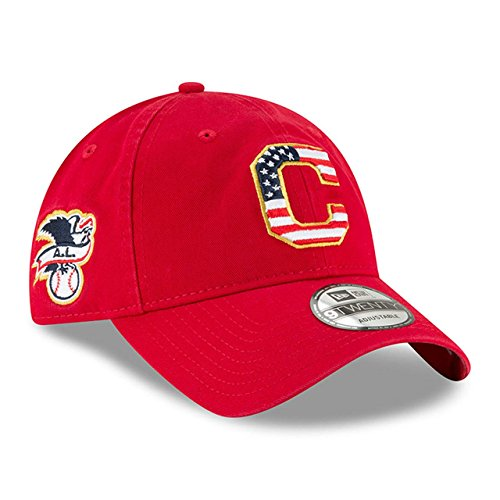 Cleveland Indians Star - New Era Cleveland Indians 2018 July 4th Stars and Stripes 9TWENTY Adjustable Hat