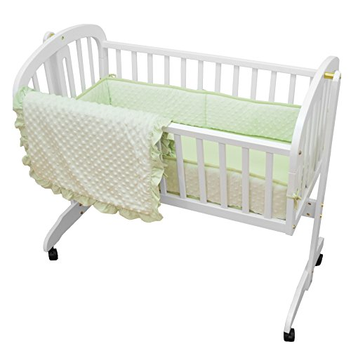 TL Care Heavenly Soft Minky Dot 3 Piece Cradle Set, Celery ()