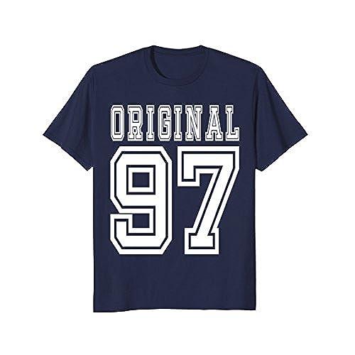 Mens 1997 T Shirt 21rd Birthday 21 Year Old B Day Medium Navy