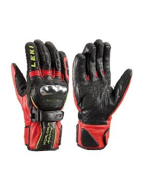 World Cup Gloves (Leki World Cup Racing Ti S Gloves Black/Red/Yellow (XS))