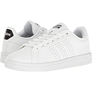 adidas Women's Shoes | Cloudfoam Advantage Clean Sneakers, White/White/Black, (7 M US)