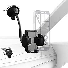Hama 178291 Coche - Soporte (Teléfono móvil/Smartphone, Coche, Soporte pasivo, Negro, De plástico, Vertical)