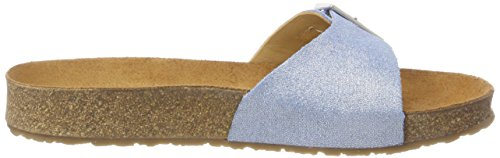 Haflinger Gina Damen Pantoletten Blau (Blau)