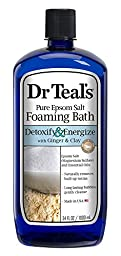 Dr Teal Detox Soak Ginger Size 34z Dr Teal Detox Ginger & Clay Foam Bath 34z
