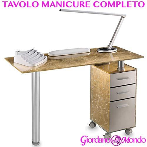 Mesa de manicura Profesional Completo de accesorios: lámpara neón ...