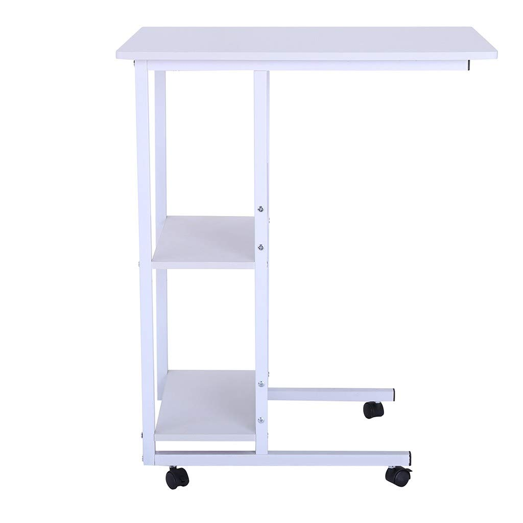 Suesshop Tables, Nightstand Lazy Bedside Laptop Table with Storage for Entryway Hallway Sofa Side Table End Table Writing Desk Small Computer Desk