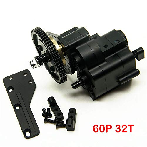 AX2 2 Aluminum Speed Transmission Case Gearbox for AXIAL Wraith 90018 90053 90048 1/10 RC Crawlers Black ()