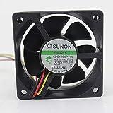 for SUNON KDE1206PTV2 MS.B2195.F.GN 1.1W 6025 60X60X25mm 3-Wire Cooling Fan
