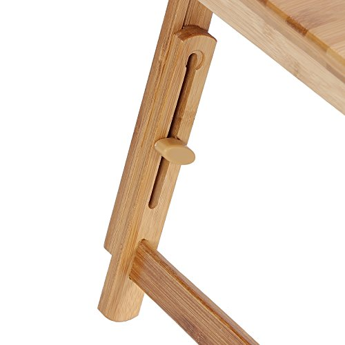 SONGMICS Bamboo Laptop Desk Serving Bed Tray Tilting Top ULLD001 by SONGMICS (Image #7)