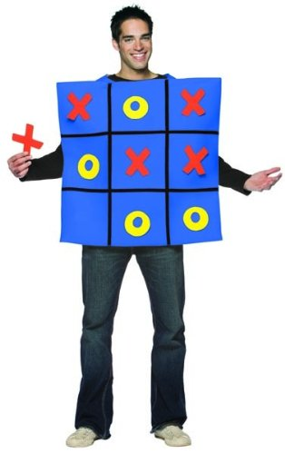 Toe Costumes - Tic Tac Toe Adult Costume - One Size