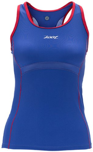 Zoot Sports Women's Performance Tri Byob Tank,Violet Blue/Zoot Red,Small