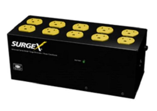 SurgeX SA-1810 Standalone Surge Eliminator - 15A / 120V, 10 outlets by SurgeX
