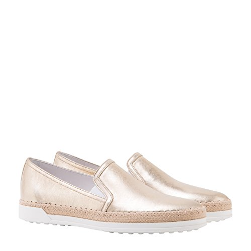 Tod's Slip On Sneakers Donna XXW0TV0J970GRSG203 Pelle Oro