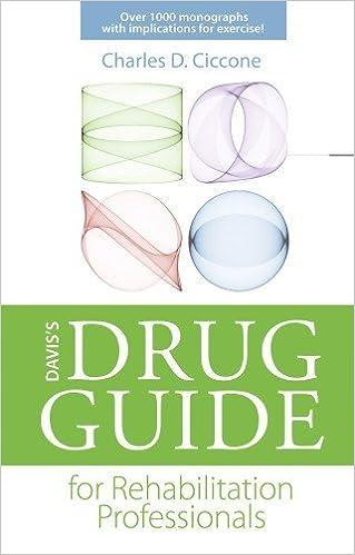 Book Davis's Drug Guide for Rehabilitation Professionals (DavisPlus) by Charles D. Ciccone PT PhD FAPTA (2013-03-21)