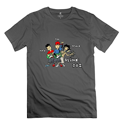 QDJT Men's Blink 182 T-shirt L