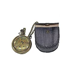 Battery Powered Hand Made Stylist Pocket Watch With Leather Case Pouch Purse