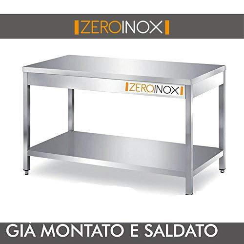 Tutte Le Misure 40x70x85h ZeroInox Tavolo in Acciaio Inox con sottopiano profondit/à 70cm Professionale Cucina Ristorante Pizzeria Hotel
