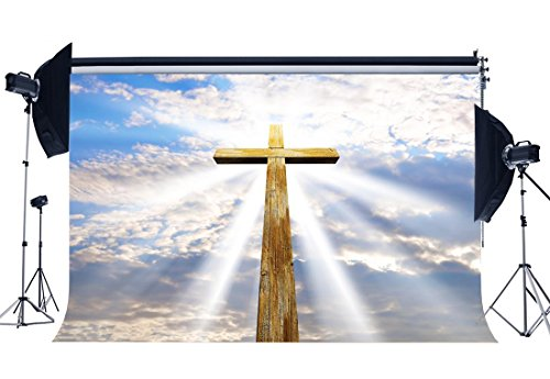 - Gladbuy Vinyl 9X6FT Happy Easter Backdrop Resurrection of Jesus Backdrops Cross Holy Lights Blue Sky White Cloud Heaven Photography Background for Kids Baby Party Portraits Photo Studio Props KX199