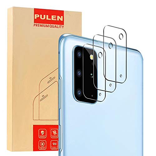 [3-Pack] PULEN Camera Lens Screen Protector for Samsung Galaxy S20 Plus (6.7''),Tempered Glass 9H Hardness HD Clear Bubble Free Easy Installation Case Friendly Camera Lens Protector