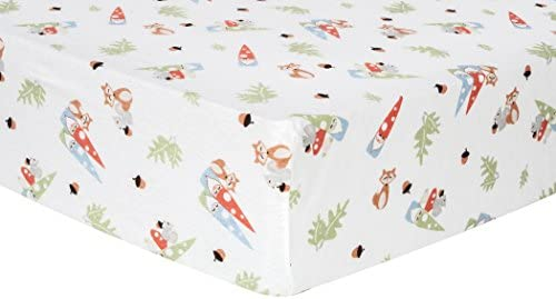 Amazon.com : Trend Lab Forest Gnomes Deluxe Flannel Fitted Crib Sheet : Baby