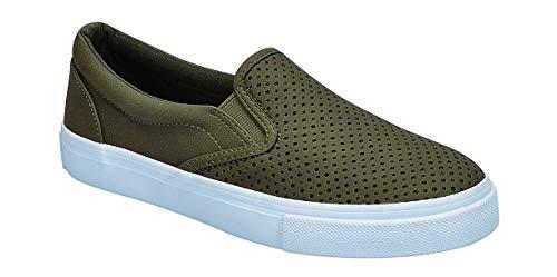 SODA Women's Slip On Flat Shoes (10) Green