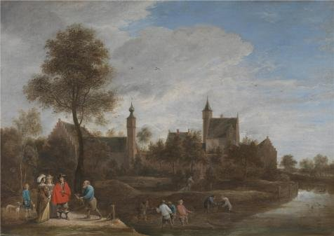 [The High Quality Polyster Canvas Of Oil Painting 'David Teniers The Younger - A View Of Het Sterckshof Near Antwerp,about 1646' ,size: 8x11 Inch / 20x29 Cm ,this Beautiful Art Decorative Prints On Canvas Is Fit For Gift For Girl Friend And Boy Friend And Home Gallery Art And] (Water Meter Costume)