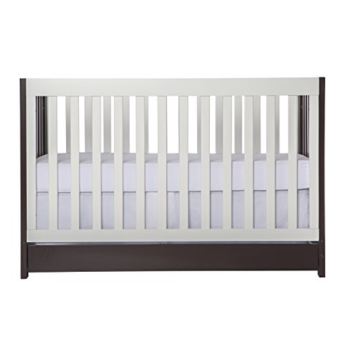 Dream On Me Milano 5-in-1 Convertible Crib, Chocolate