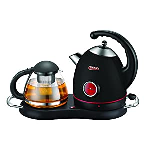 NEW 2018 DESIGN Tea/Coffee Maker, Cordless Electric Stainless Kettle Set & Keep Warm Tray