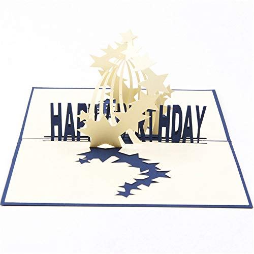 -  Orcbee  _3D Pop Up Card Greeting Card Gift for Birthdays Weddings Anniversaries Graduation (B)