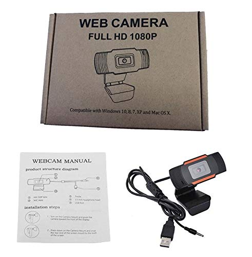 HD 1080P Webcam with Microphone USB Computer Camera for Live Streaming Webcam