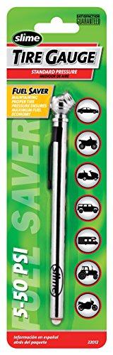 Psi Pencil Tire 50 Gauge (Slime 22012 Pencil Tire Gauge, 5-50 PSI/KPA/BAR)