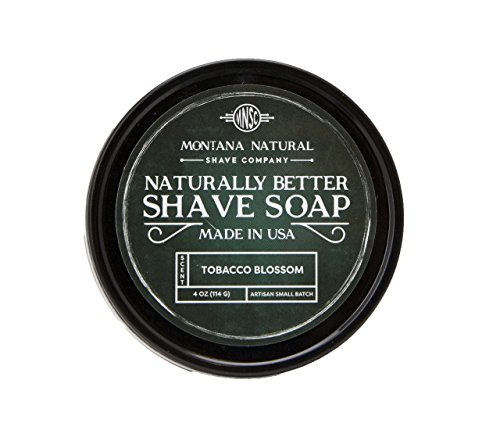 Tobacco Blossom Artisan Small Batch Shave Soap for a Naturally Better Shave Experience by Montana Natural Shave Company