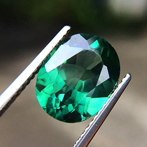Lovemom 4.28ct Natural Oval Coating Green Topaz Brazil #R by Lovemom (Image #4)