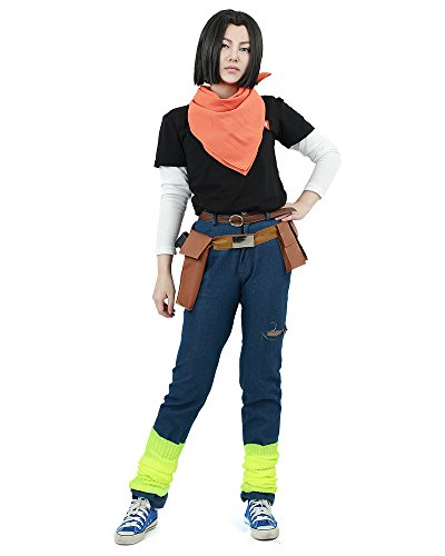 Miccostumes Men's Android 17 Cosplay Costume ML -