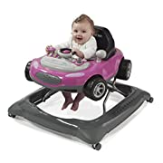Storkcraft Mini-Speedster Activity Walker Pink Interactive Walker with Realistic Driving Experience, Adjustable Seat Pad, Folds for Easy Storage