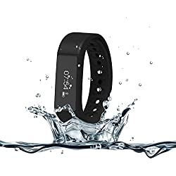 007plus T5 Plus Fitness Tracker Health Sleep Monitor Pedometer Activity Tracker Wristband, Black